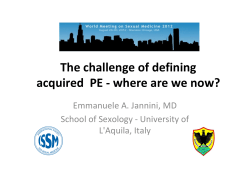The challenge of defining  acquired  PE ‐ where are we now?