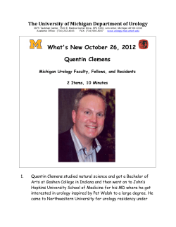 What's New October 26, 2012  Quentin Clemens