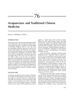76 Acupuncture and Traditional Chinese Medicine