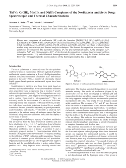 Ti(IV), Cr(III), Mn(II), and Ni(II) Complexes of the Norfloxacin Antibiotic... Spectroscopic and Thermal Characterizations