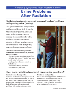 Urine Problems After Radiation Managing Symptoms After Prostate Cancer