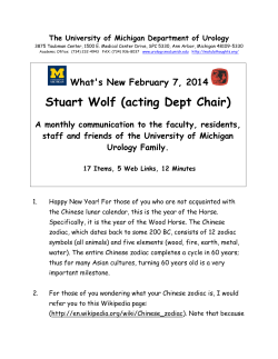 Stuart Wolf (acting Dept Chair) What's New February 7, 2014