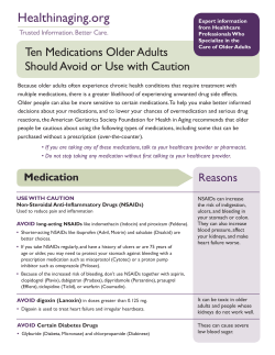 Ten Medications Older Adults Should Avoid or Use with Caution