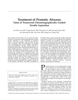 Treatment of Prostatic Abscess: Value of Transrectal Ultrasonographically Guided Needle Aspiration