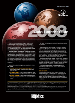 2008 Global Logistics Guide SPONSORED BY