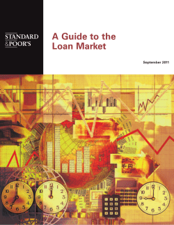 A Guide to the Loan Market September 2011