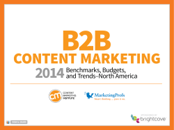 B2B Content Marketing 2014