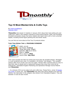Top-10 Most-Wanted Arts & Crafts Toys