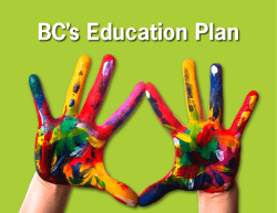 BC's Education Plan