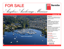Anglers Anchorage Marina FOR SALE Victoria, BC Located in Beautiful Brentwood Bay, BC