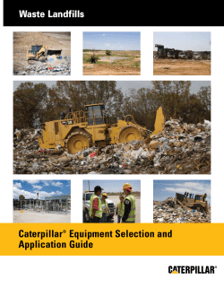 Caterpillar Equipment Selection and Application Guide Waste Landfills