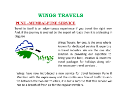 WINGS TRAVELS PUNE –MUMBAI-PUNE SERVICE