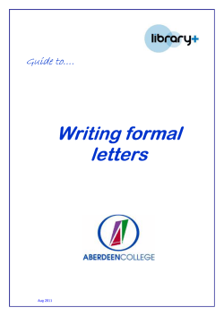 Writing Writing formal formal