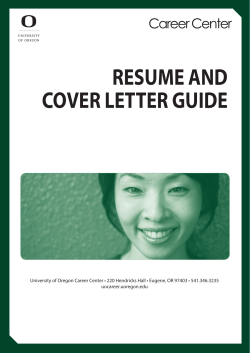 NIHILCO RESUME AND COVER LETTER GUIDE