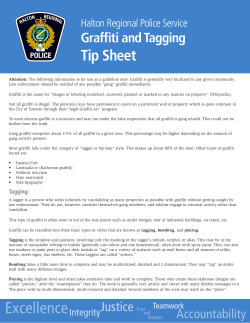 Tip Sheet Graffiti and Tagging