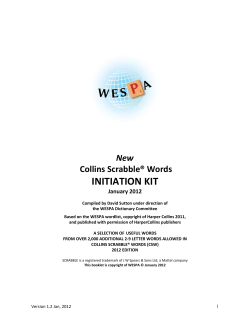 INITIATION KIT  New Collins Scrabble® Words