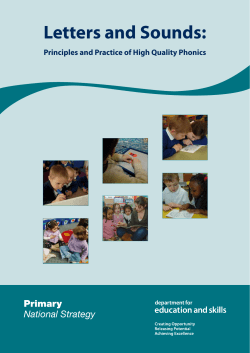 Letters and Sounds: Principles and Practice of High Quality Phonics