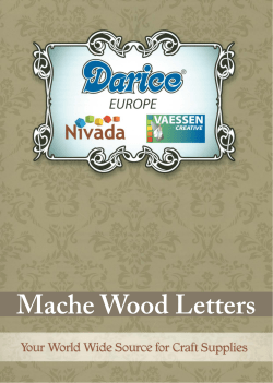 Mache Wood Letters