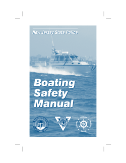 Boating Safety Manual New Jersey State Police