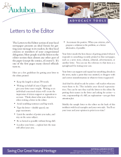 Letters to the Editor newspaper presents an ideal forum for get-