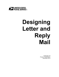 Designing Letter and Reply Mail