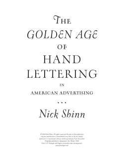 T GOLDEN AGE Nick Shinn HAND