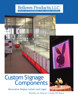 Custom Signage Components Decorative Display Letters and Logos