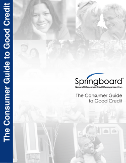 The Consumer Guide to Good Credit The Consumer Guide to Good Credit