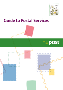 Guide to Postal Services N