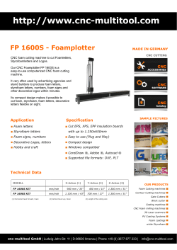 -multitool.com FP 1600S - Foamplotter CNC MADE IN GERMANY
