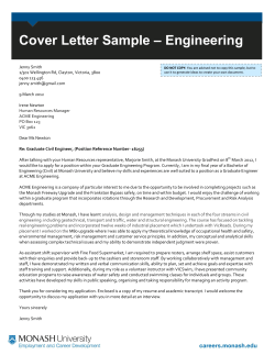 – Engineering Cover Letter Sample