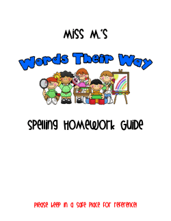 Miss M.'s Spelling Homework Guide