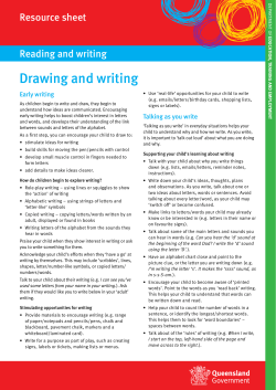 Drawing and writing Resource sheet Reading and writing Early writing
