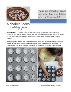 Make an alphabet beans game for learning letters and spelling words!