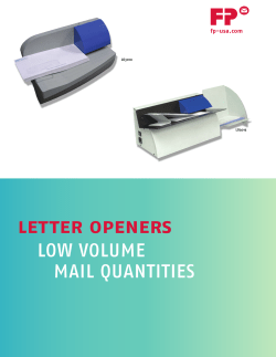 Letter openers low	volume mail	quantities fp-usa.com