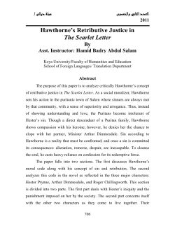 Hawthorne's Retributive Justice in The Scarlet Letter By