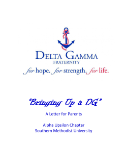 """Bringing Up a DG""  A Letter for Parents Alpha Upsilon Chapter"