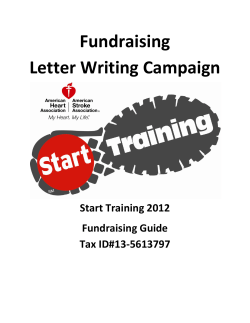 Fundraising Letter Writing Campaign  Start Training 2012