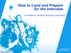 How to Land and Prepare for the Interview Updated: 3/4/2014
