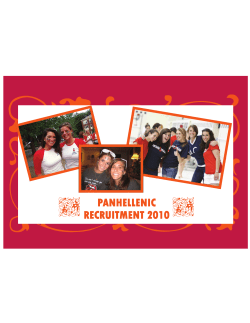 PANHELLENIC RECRUITMENT 2010