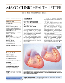 MAYO CLINIC HEALTH LETTER Exercise for your heart