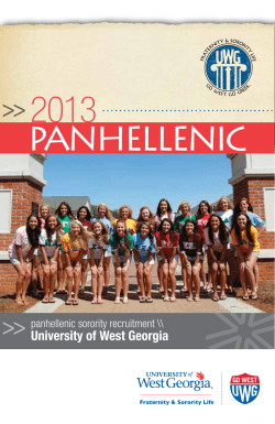 2013 PANHELLENIC University of West Georgia panhellenic sorority recruitment \\