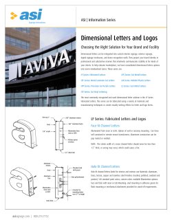 Dimensional Letters and Logos ASI | Information Series