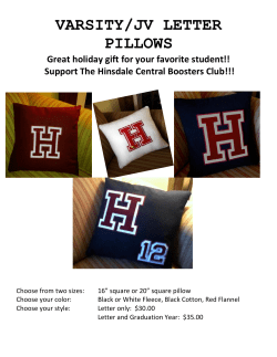 VARSITY/JV LETTER PILLOWS Great holiday gift for your favorite student!!