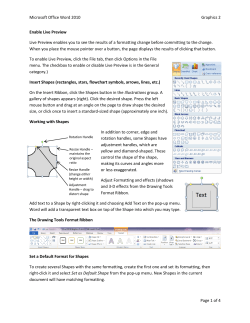 Microsoft Office Word 2010  Graphics 2