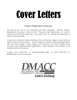 Cover Letters Student Employment Assistance