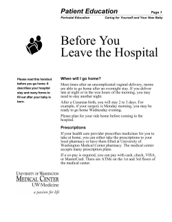 Before You Leave the Hospital Patient Education
