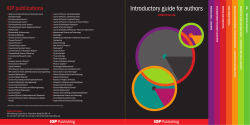 Introductory guide for authors IOP publications • authors.iop.org