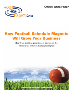 How Football Schedule Magnets Will Grow Your Business Official White Paper