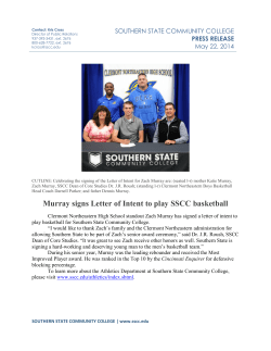 SOUTHERN STATE COMMUNITY COLLEGE May 22, 2014 PRESS RELEASE